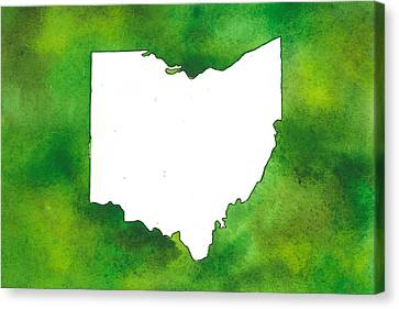 State Of Ohio - Ohio University - Green Canvas Print by Heather McCray