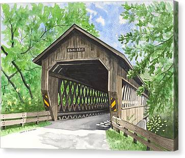 State Road Bridge Canvas Print