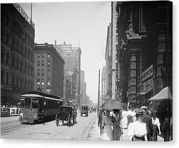 State Street 2 - Chicago 1900 Canvas Print