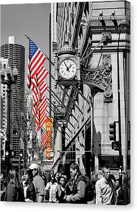 Canvas Print featuring the photograph State Street Scene - 1 by Sheryl Thomas
