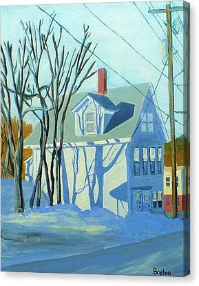 State Street Shadows Canvas Print by Laurie Breton