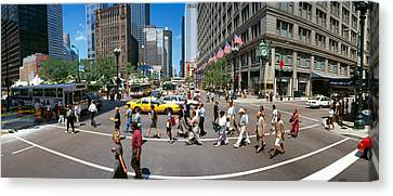 State Street With Marshall Fields Canvas Print by Panoramic Images