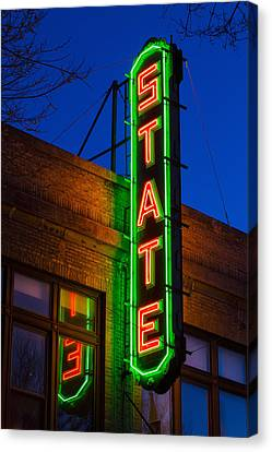 New Stage Canvas Print - State Theatre - Ithaca by Stephen Stookey