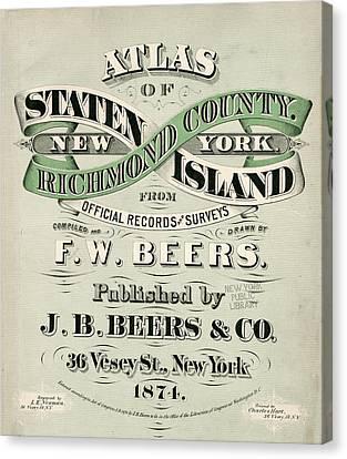 Staten Island Atlas Canvas Print by Roy Pedersen