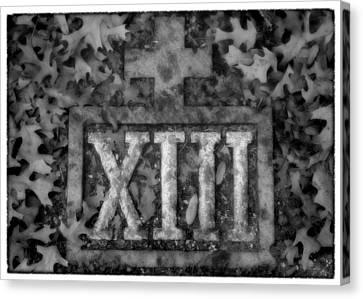 Station 13 Full Bw - San Juan Capistrano Canvas Print by Stephen Stookey