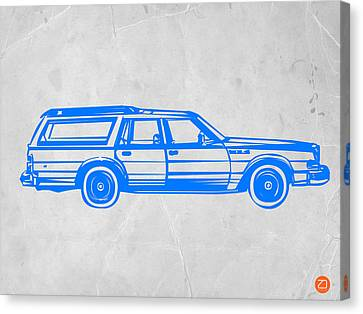 Station Wagon Canvas Print by Naxart Studio