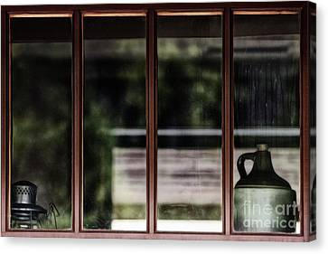 Canvas Print featuring the photograph Station Window by Brad Allen Fine Art