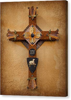 Crucifix Art Canvas Print - Stations Of The Cross - Xiv by Stephen Stookey