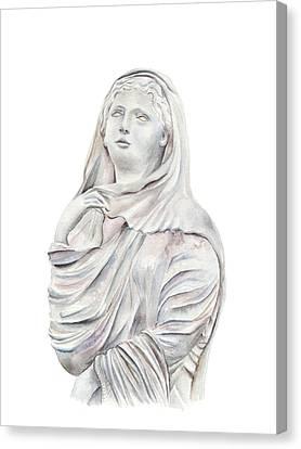 Statue Canvas Print by Elizabeth Lock