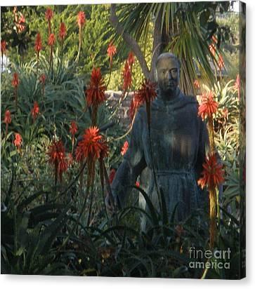 Statue In The Garden  Canvas Print