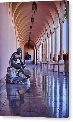 Statue - Loggia Canvas Print by Nikolyn McDonald