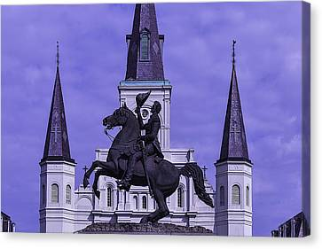 Statue Of Andrew Jackson Canvas Print by Garry Gay