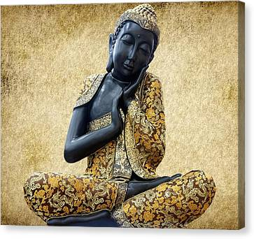 Statue Of Buddha Canvas Print by Art Spectrum