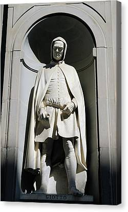 Statue Of Giotto Di Bondone At The Uffizi Gallery In Florence It Canvas Print by Reimar Gaertner