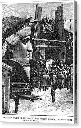 Statue Of Liberty, 1881 Canvas Print by Granger