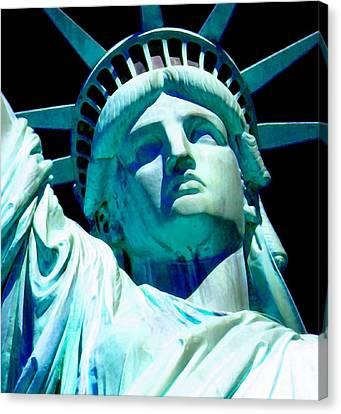 Statue Of Liberty 4 Canvas Print by Otis Porritt