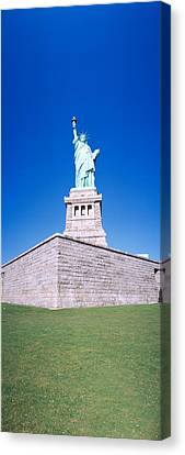 Democracy Canvas Print - Statue Of Liberty And Pedestal, New York by Panoramic Images