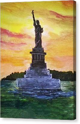 Statue Of Liberty Canvas Print by Anne Sands