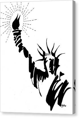 Statue Of Liberty Canvas Print by Farah Faizal