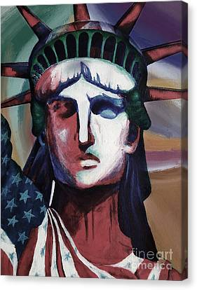 Statue Of Liberty Hb5t Canvas Print by Gull G