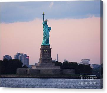 Staten Island Ferry Canvas Print - Statue Of Liberty by Jeremy Woodhouse