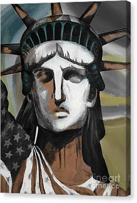 statue of liberty KJ78 Canvas Print by Gull G