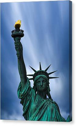 Statue Of Liberty Canvas Print by Martin Newman