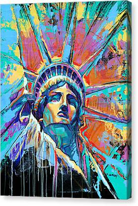 Liberty Canvas Print - Statue Of Liberty New York Art Usa by Damon Gray