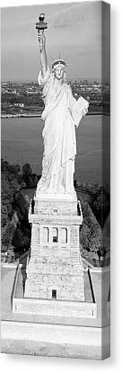 Pedestal Canvas Print - Statue Of Liberty, New York, Nyc, New York City, New York State, Usa by Panoramic Images