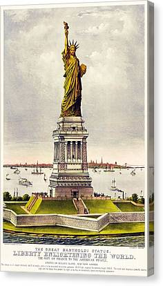 Statue Of Liberty Canvas Print by Pg Reproductions