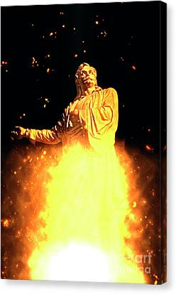 Statue Of Rigas Feraios Canvas Print