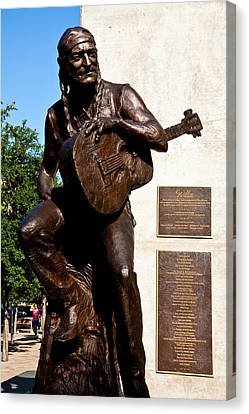 Statue Of Willie Nelson Canvas Print by Mark Weaver