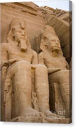 Statues At Abu Simbel Canvas Print