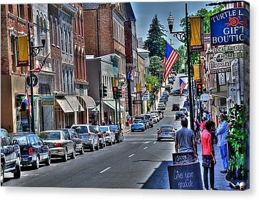 Staunton Down Town Canvas Print by Todd Hostetter