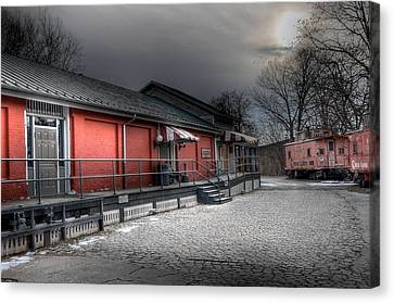 Staunton Va Train Depot Canvas Print by Todd Hostetter