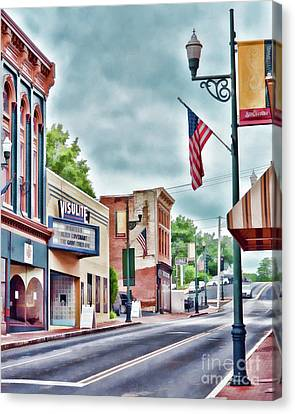 Canvas Print featuring the photograph Staunton Virginia - Art Of The Small Town by Kerri Farley