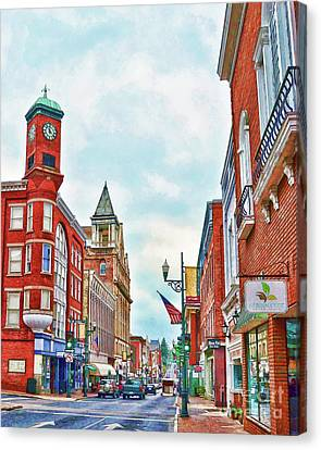 Canvas Print featuring the photograph Staunton Virginia - The Queen City - Art Of The Small Town by Kerri Farley