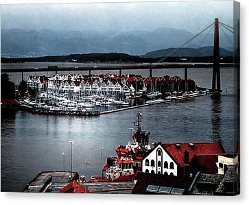 Canvas Print featuring the photograph Stavanger Harbor by Jim Hill