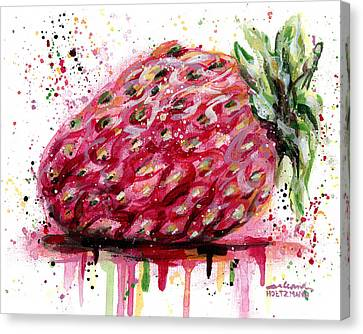 Stawberry 1 Canvas Print by Arleana Holtzmann