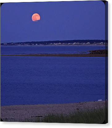 Stawberry Moon Canvas Print by Frank Winters
