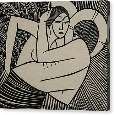 Stay Me With Apples Canvas Print by Eric Gill