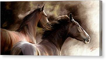 Canvas Print featuring the painting Stay Together by James Shepherd