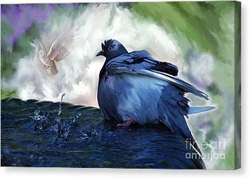 Canvas Print featuring the painting Staying Cool by Elaine Manley