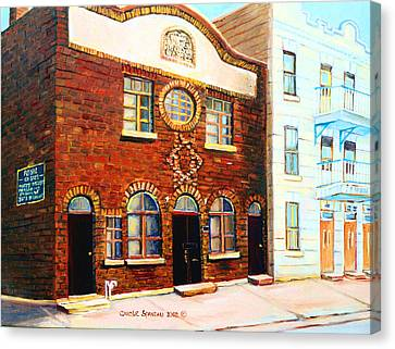 St.dominique Street Synagogue Canvas Print by Carole Spandau