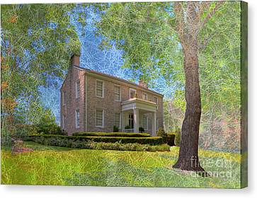 Old School Houses Canvas Print - Ste Genevieve Academy  by Larry Braun