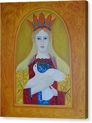 Canvas Print featuring the painting Ste-marie-geest by Tone Aanderaa