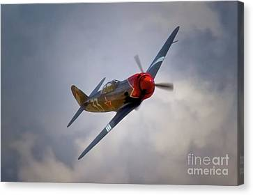 Steadfast Russian Yak Fighter And Will Whiteside Chino Air Show 2011 Canvas Print