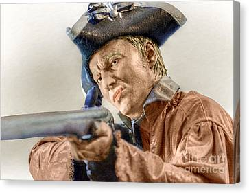 Steady Aim Milita Soldier Canvas Print by Randy Steele