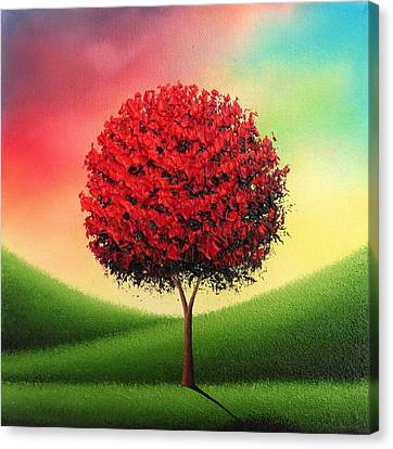 Abstract Art On Canvas Print - Steady The Day by Rachel Bingaman