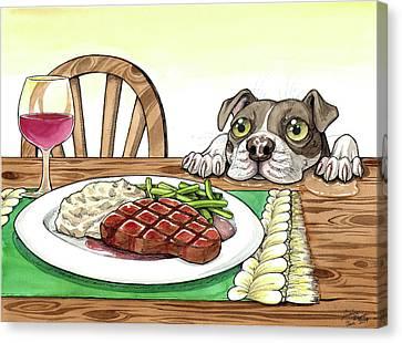 Steak Dinner Canvas Print